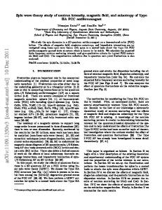 Spin wave theory study of neutron intensity, magnetic field, and ...