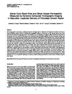 Spinal Cord Blood Flow and Blood Vessel ... - Semantic Scholar