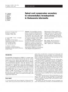 Spinal cord compression secondary to extramedullary ... - Europe PMC