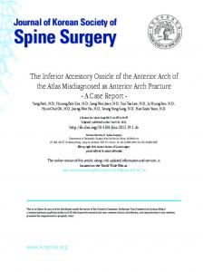 Spine Surgery - KoreaMed Synapse