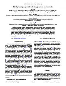 Spinning bearing-shaped solitons in strongly ... - APS Link Manager