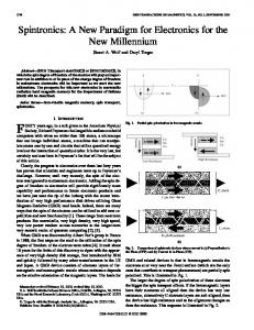 Spintronics: a new paradigm for electronics for the new millennium ...
