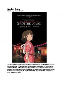 Spirited Away study guide - Film Education