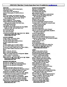 REMEMBER ME / Word Sheet / From the Original Sound Track