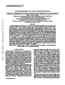 SPITZER OBSERVATIONS OF THE THERMAL EMISSION FROM ...