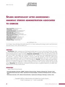 spleen morphology after androgenic anabolic steroid