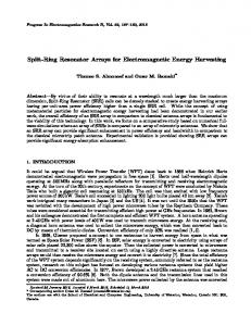 Split-Ring Resonator Arrays for Electromagnetic Energy Harvesting