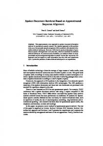 Spoken Document Retrieval Based on Approximated ... - Core