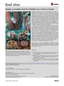 Sponges as secondary hosts for Christmas tree worms ... - Springer Link