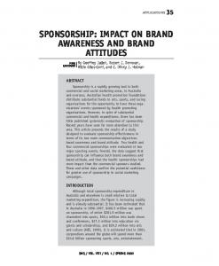 sponsorship: impact on brand awareness and brand ...