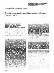 Spontaneous Autoimmune Dacryoadenitis in Aged CD25KO Mice