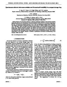 Spontaneous coherent microwave emission and the sawtooth ...