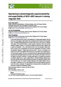 Spontaneous electromagnetic superconductivity and superfluidity of ...