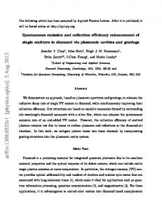 Spontaneous emission and collection efficiency enhancement of ...