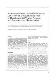 Spontaneous Intracerebral Hemorrhage Caused by an Unusual ...