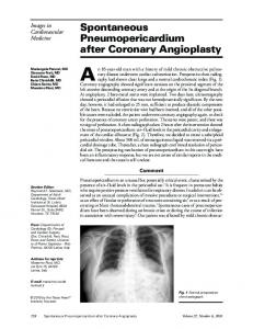 Spontaneous Pneumopericardium after Coronary ...