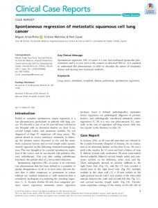 Spontaneous regression of metastatic ... - Wiley Online Library