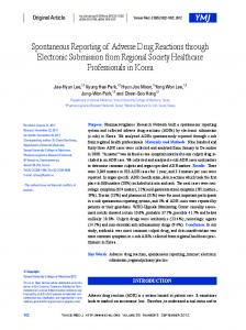Spontaneous Reporting of Adverse Drug Reactions ... - BioMedSearch