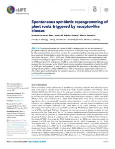 Spontaneous symbiotic reprogramming of plant ... - Semantic Scholar