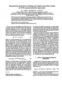 Spontaneous symmetry breaking and masses