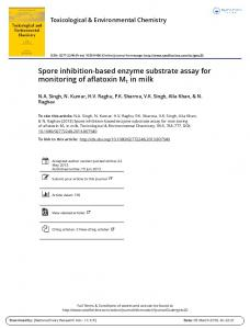 Spore inhibition-based enzyme substrate assay for