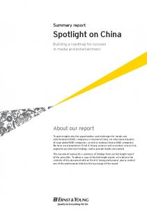 Spotlight on China: Media & Entertainment