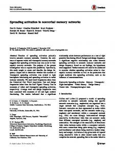 Spreading activation in nonverbal memory networks | SpringerLink