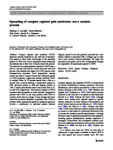 Spreading of complex regional pain syndrome: not a ... - Springer Link