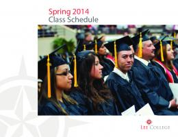 Spring 2014 Class Schedule - Lee College