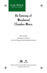 Spring Chamber Music Recital: Woodwinds - Wind Orchestra and ...