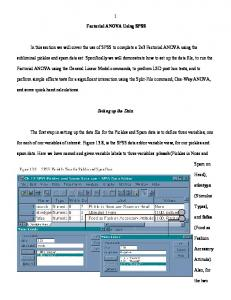 SPSS Factorial ANOVA Guide