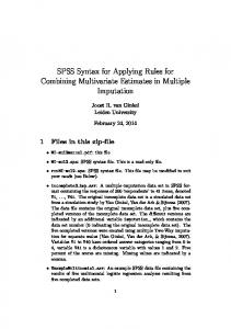SPSS Syntax for Applying Rules for Combining ...