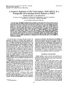 (SPT2), Is a Nonspecific DNA-Binding Protein Related ... - Europe PMC