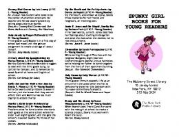 spunky girl book recommendations (PDF) - New York Public Library