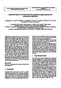 Sputtered Indium Tin Oxide thin films deposited on ...