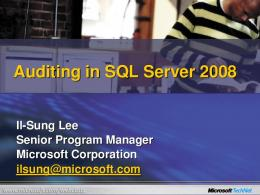 SQL Server Audit - Microsoft