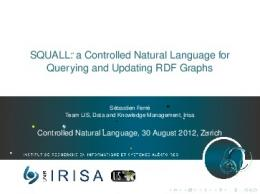 SQUALL - Attempto Controlled English.
