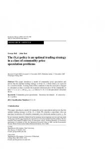 (S,s) policy is an optimal trading strategy in a class of commodity price ...