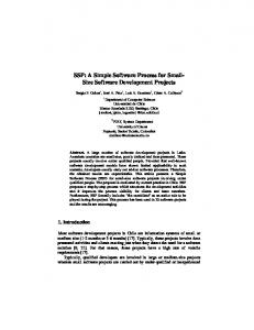 SSP: A Simple Software Process for Small- Size Software ... - CiteSeerX