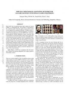SSPP-DAN: Deep Domain Adaptation Network for Face Recognition ...