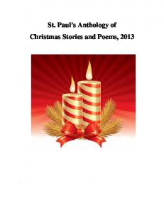 St. Paul's Anthology of Christmas Stories and Poems, 2013