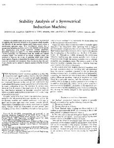 Stability Analysis of a Symmetrical Induction Machine