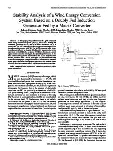 Stability Analysis of a Wind Energy Conversion System ... - IEEE Xplore