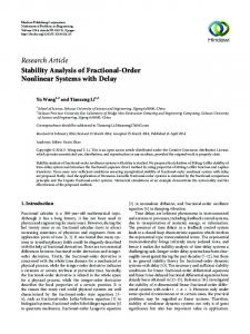 Stability Analysis of Fractional-Order Nonlinear Systems with Delay