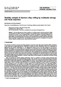 Stability analysis of titanium alloy milling by multiscale ... - Springer Link