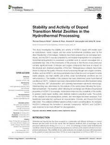 Stability and Activity of Doped Transition Metal ... - Semantic Scholar