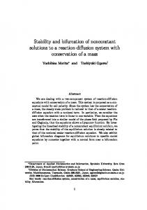 Stability and bifurcation of nonconstant solutions to a reaction-diffusion