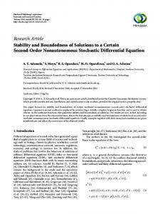 Stability and Boundedness of Solutions to a Certain Second-Order