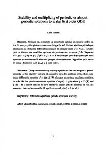 Stability and multiplicity of periodic or almost periodic solutions to ...