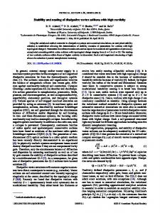 Stability and nesting of dissipative vortex solitons ... - APS Link Manager